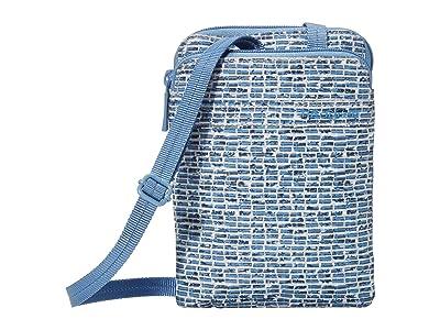 Hedgren Rupee Passport Holder with RFID Pocket (Craft Blue Print) Handbags