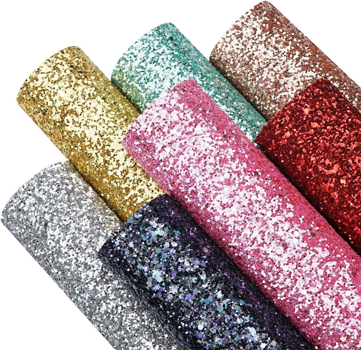 MATTE Fuchsia Chunky Glitter Fabric Sheet-Faux Leather Sheet-Glitter Fabric Sheet-A4 or A5 Glitter Fabric Leather-DIY Hair Bows 1mm Thick