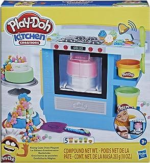 Play-Doh Kitchen Creations Prachtige Taartenoven voor kinderen vanaf 3 jaar, met 5 potjes niet-giftige klei in verschillen...