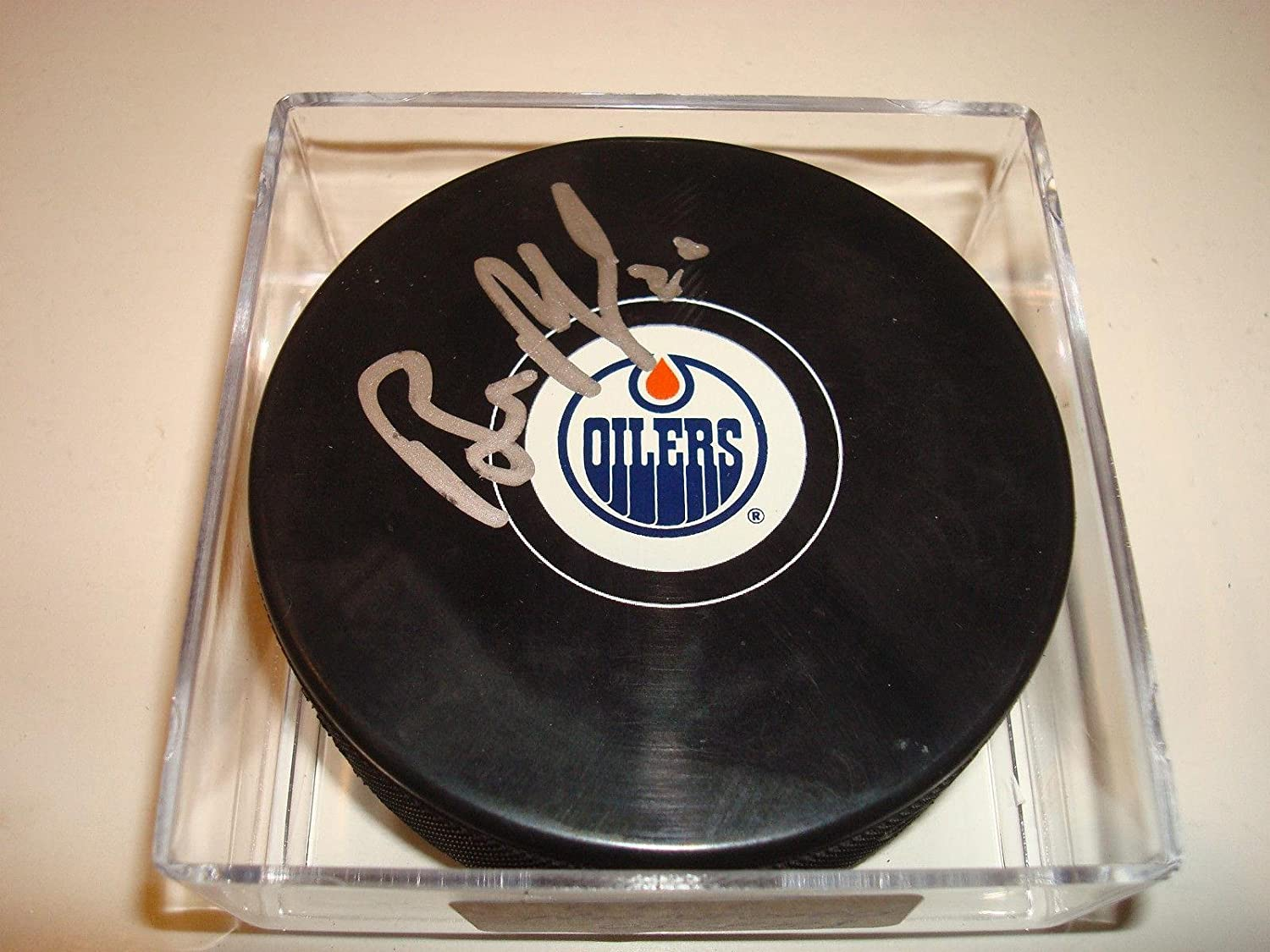 Bill Ranford Signed Puck  Go      4  Autographed NHL Pucks