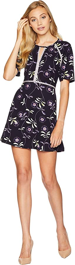 Knit Roma Floral Texture Dress