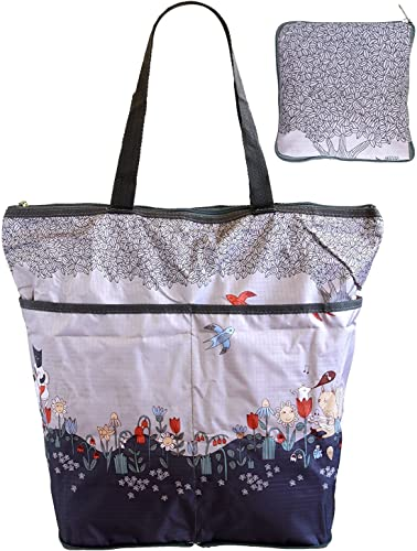 en promociones de estadios Big, Multi Pockets, Pockets, Pockets, Foldable, Reusable, Eco Grocery, Shopping Tote Bag - gris by HOP  punto de venta