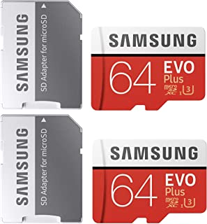Samsung 64GB MicroSDXC EVO Plus Memory Card w/Adapter (MB-MC64GA) (2 Pack)