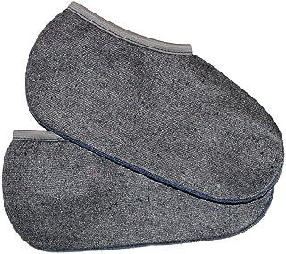 Wowerat, 2 pares de calcetines grises de de pelo de caballo hechos en Alemania