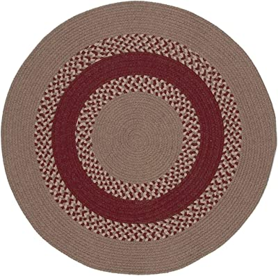 Colonial Mills Corsair Banded Round Area Rug, 9X9, Natural