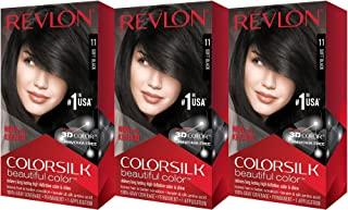 Revlon ColorSilk Beautiful Color, Soft Black [11] 1 ea (Pack of 3)