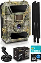 CreativeXP LTE 4G Cellular Trail Cameras – Outdoor WiFi Full HD Wild Game Camera with..