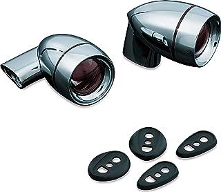 Kuryakyn 5032 Motorcycle Lighting Accessory: Universal Rear Red Turn Signal/Blinker Lights, Single Circuit, Chrome, 1 Pair