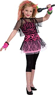 Forum Novelties 80's Rock Star Child Girl's Costume, Medium