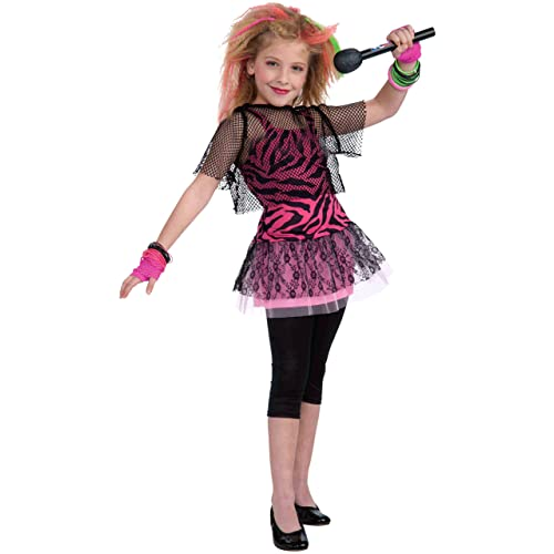 019c9e90 Forum Novelties 80's Rock Star Child Girl's Costume, ...