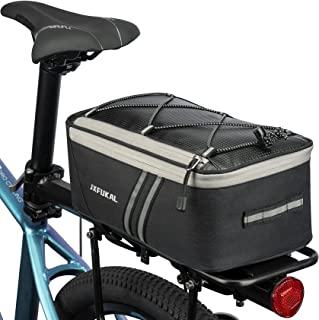 JXFUKAL Rear Bike Rack Bag with Rain Cover, 7L Waterproof...