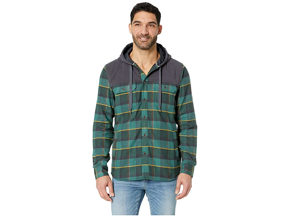Marmot Silos Heavyweight Flannel Long Sleeve (Mallard Green/Dark Steel) Men