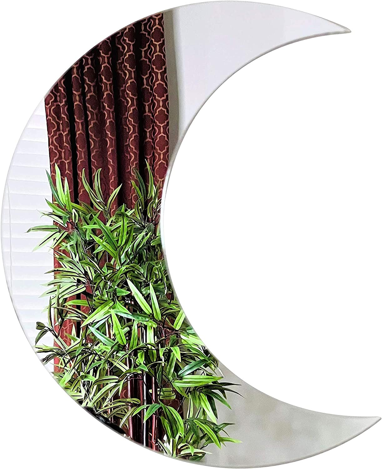 Huge Crescent Shaped Fancy Acrylic Decor Indefinitely Ranking TOP12 Wall Moon Silver Mirror