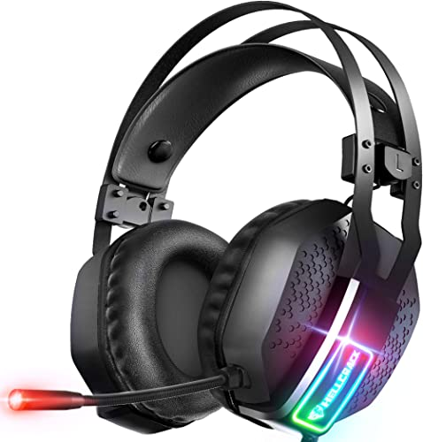 Mifanstech V-10 Casque Gaming pour PC PS4 PS5 Nintendo Switch Xbox One, Casque Gamer avec Microphone Antibruit, Son S...