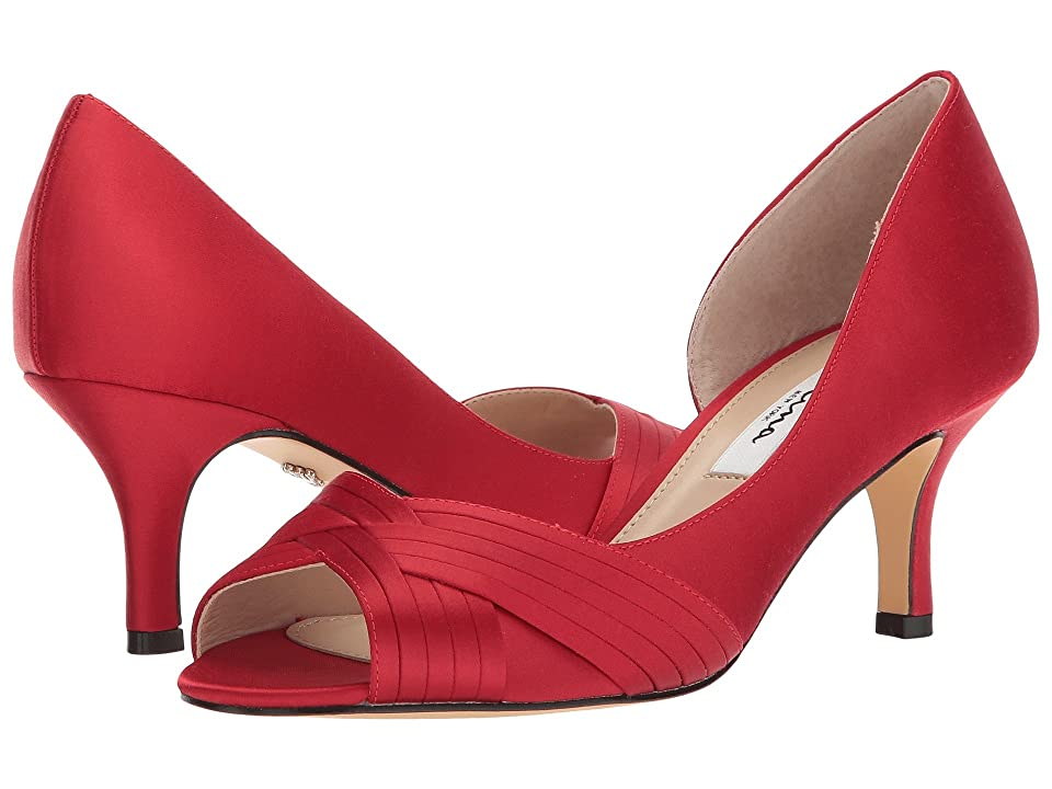Nina Contesa (Red Rouge Luster Satin) High Heels