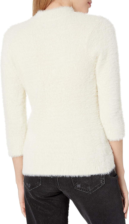 Volcom Womens Bunney Riot Fuzzy Mock Neck Pullover Sweater