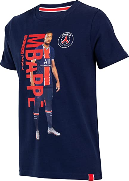 Paris Saint-Germain - Maglietta del Paris Saint-Germain, collezione ufficiale, maglia di Kylian Mbappé, per bambino/ragazzo