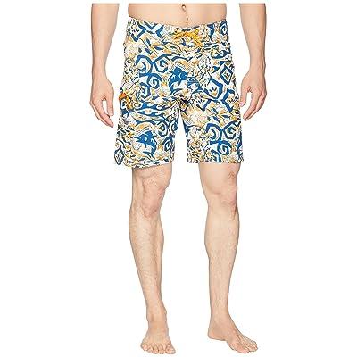 Columbia PFG Offshore II 9 inch Board Shorts (Solarize Deep Sea Batik) Men