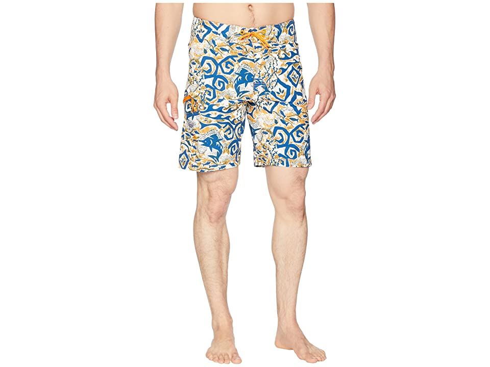 Columbia PFG Offshore II 9 inch Board Shorts (Solarize Deep Sea Batik) Men