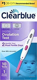 Clearblue  Digital Ovulation Predictor Kit, featuring  Ovulation Test with digital results, 10 Digital Ovulation Tests.