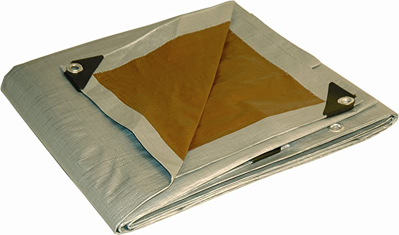 10x15 Multi Purpose Silver Brown Heavy Duty DRY TOP Poly Tarp 10 X15