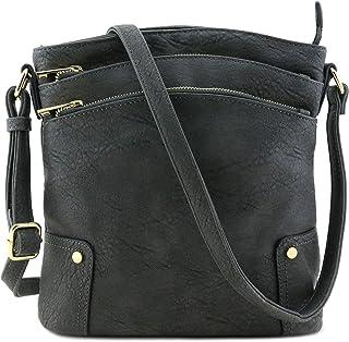 894b6436252e Amazon.com  Faux Leather - Crossbody Bags   Handbags   Wallets ...