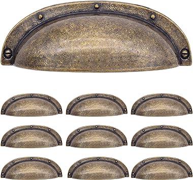 Yfjg Arch Cup Handle Pull Antique Brass 3 3 4 96mm Inch Drawer Pulls Bronze Kitchen
