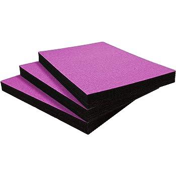 , Noir sur rose 600 x 420 mm Shadow Foam Easy Peel Cinq Pack - mousse personnalisable pour organiser les bo/îtes /à outils Profondeur de 30mm
