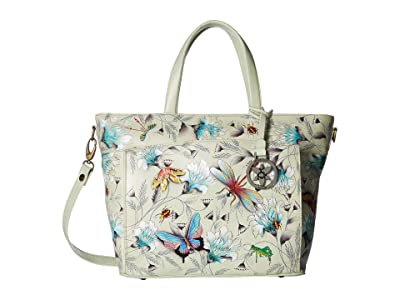 Anuschka Handbags Large Organizer Tote 635 (Wondrous Wings) Handbags