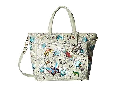 Anuschka Handbags Large Organizer Tote 635 (Wondrous Wings) Handbags