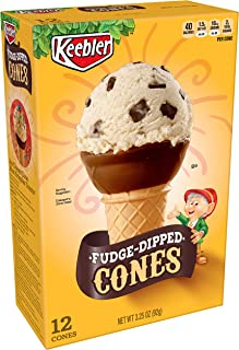 Keebler Ice Cream Cones, Fudge Dipped Cups, 3.25 oz (12 ct)