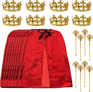 Tigerdoe King Party Set for Children- 24 pc Set- Royal King Costume Set for Kids- Dress Up for Pretend Play- Child Role Pl...