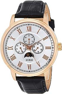 ساعة نسائية بمينا وسوار من الجلد من جيس - موديل W0870G2