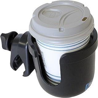 W4W Universal Stroller Cup Holder – Mega Strength Adjustable Clamp fits on Any Bike, Walker, Wheel Chair, Car – Large Adju...