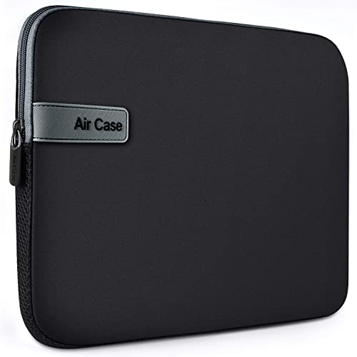 AirCase Laptop Bag Sleeve Case Cover for 15.6-Inch Laptop MacBook, Protective, Neoprene (Black)