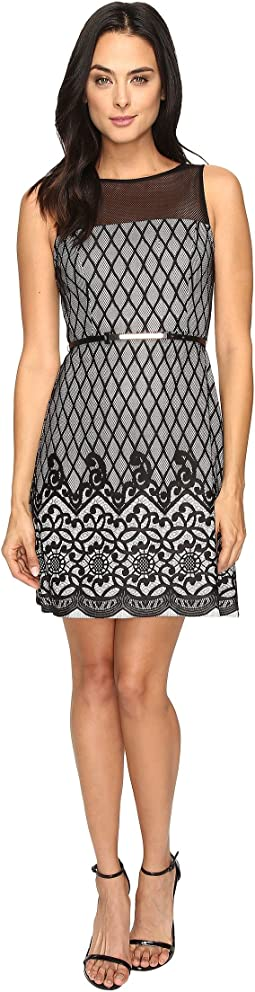 Diamond Bonded Lace Dress