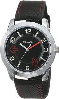 Sonata Yuva Analog Black Small Dial Men's Watch -NK7924SL04