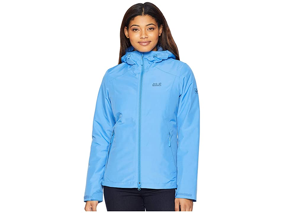 Jack Wolfskin Chilly Morning Waterproof Jacket (Zircon Blue) Women