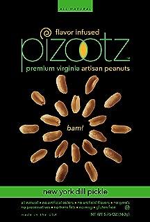 Pizootz New York Dill Pickle Flavor Infused Premium Virginia Gourmet Artisan Peanuts - 5.75 oz per bag (New York Dill Pickle)