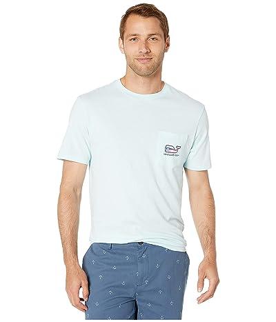 Vineyard Vines Short Sleeve Sport Fisher Whale Pocket Tee (Misty Blue) Men
