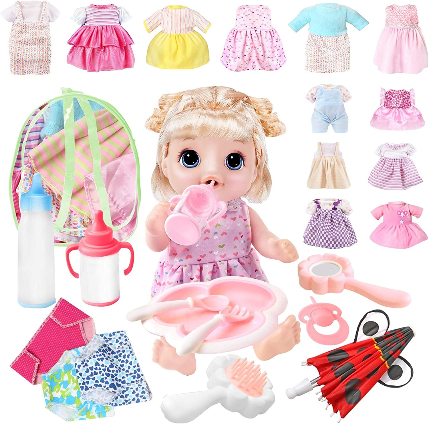 Voccim 25 Pcs Girl Doll Clothes Free shipping Alive Accessories Bitty Sales for and