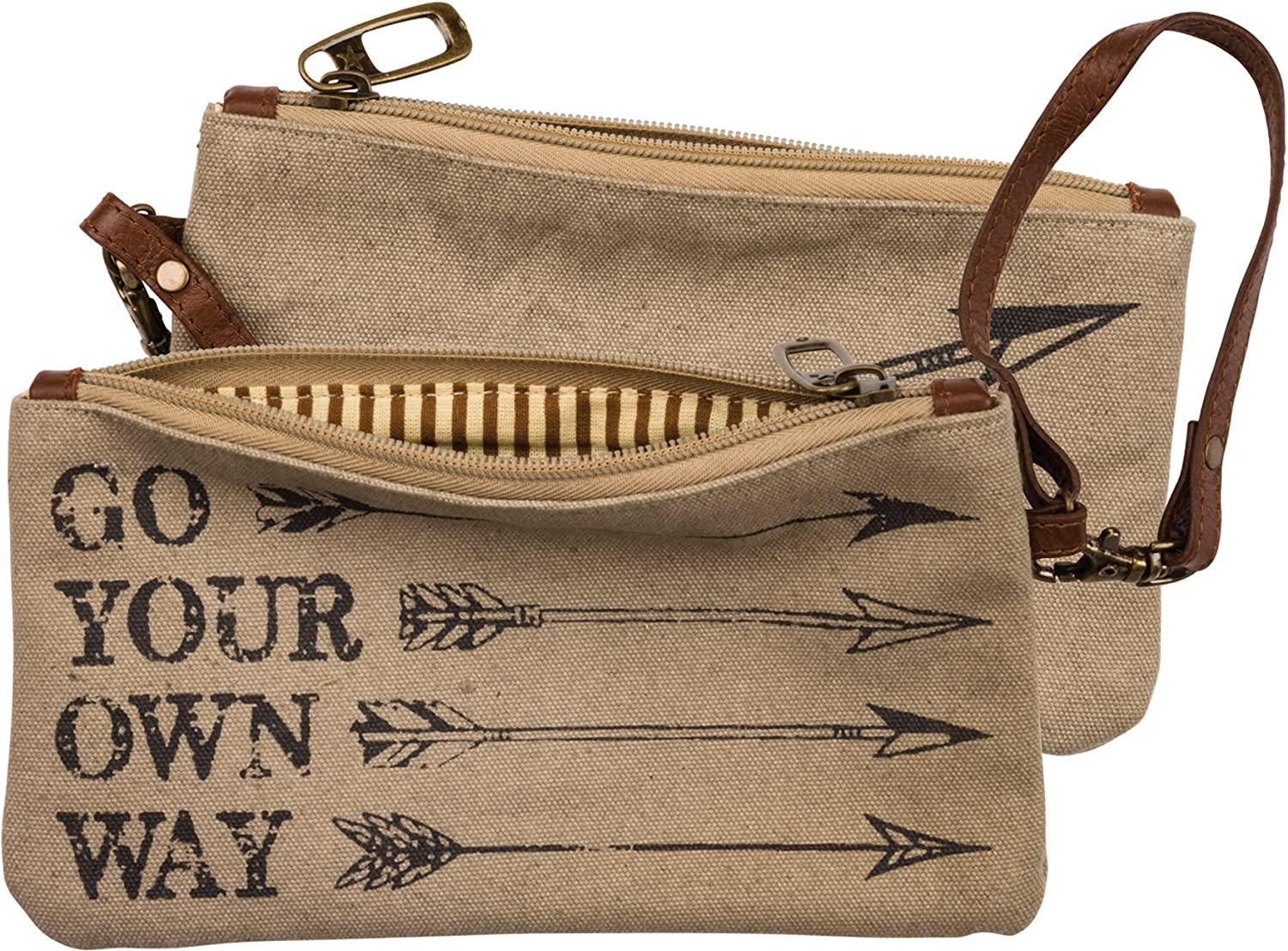 Canvas Wristlet  Go Your Own Way  8.5  x 4.5