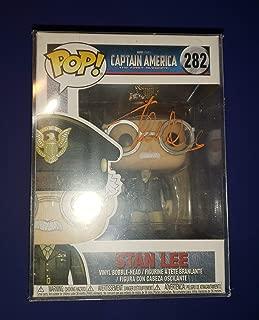STAN LEE - Autographed Signed Stan Lee FUNKO POP 282 Vinyl Figure CAPTAIN AMERICA THE FIRST AVENGER COA