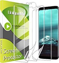 [3 Pack] UniqueMe Screen Protector for Samsung Galaxy S8,TPU Clear Soft Film [ Case Friendly] Touch Sensitive with Lifetime Replacement Warranty