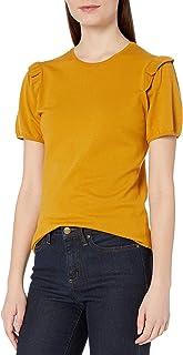 Amazon Brand - Lark & Ro Women's Ruffle Shoulder Sweater