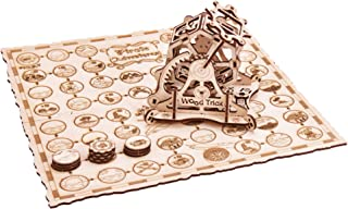 Wood Trick Wheel of Fortune Board Game, Pirate Adventure Board Game - Family Board Games - 3D Wooden Puzzle, Assembly Model, ECO Wooden Toys, Best DIY Toy - STEM Toys for Boys and Girls