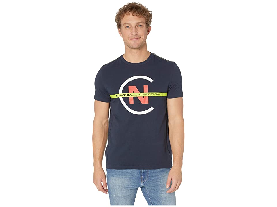 Nautica Short Sleeve Competition Tee (Navy) Men