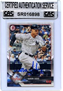 b9a1d4a43 Aaron Judge New York Yankees Signed Autographed 2018 Bowman #24 Baseball  Card CAS Certified