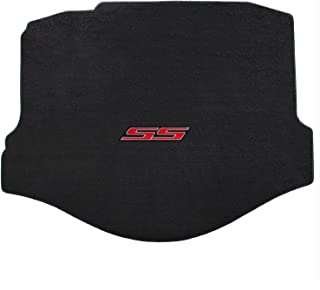 Lloyd Mats Ebony Black Rear Trunk Cargo Mat with SS Logo in Red Fits 2010-2014 Chevy Camaro