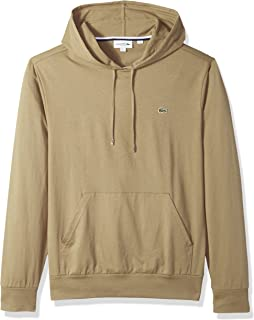 Lacoste Men's Long Sleeve Jersey Hoodie Tee with Central...